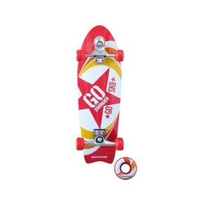 【送料無料】GO SK8(ゴー・エス・ケー・エイト) GO SWINGER ゴースウィンガースケートボード 28インチ Red
