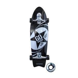 【送料無料】GO SK8(ゴー・エス・ケー・エイト) GO SWINGER ゴースウィンガースケートボード 30インチ Black