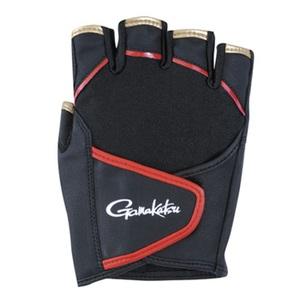 がまかつ(Gamakatsu) クロスベルトフィッシンググローブ(5本切) GM-7232 ブラック M 57232 ファイブフィンガーレス(フィッシング)