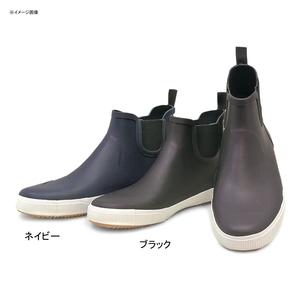 【送料無料】BCR プレーントゥ サイドゴア レインブーツ 25.0cm ブラック 12301320