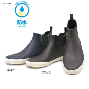 【送料無料】BCR プレーントゥ サイドゴア レインブーツ 27.0cm ネイビー 12301324