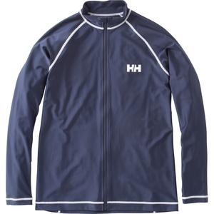 【送料無料】HELLY HANSEN(ヘリーハンセン) ラッシュガード ロングスリーブ フルジップ 長袖 M HB HE81603