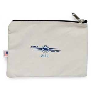 ESTEX(エステックス) 2530 Zipper Pouch Canvas Natural Cotton 34120044
