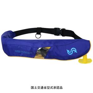 Takashina(高階救命器具) 国土交通省承認 腰巻式ライフジャケット 桜マーク タイプA BSJ-5520RS インフレータブル(自動膨張)