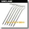 ユニフレーム(UNIFLAME) パワーペグSUS 200×6【お得な6点セット】