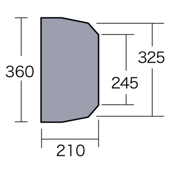 ogawa(キャンパルジャパン) PVCマルチシート ティエラワイドII用 1422 グランドシート
