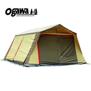 【送料無料】小川キャンパル(OGAWA CAMPAL) ロッジシェルターII ブラウンxサンドxレッド 3378