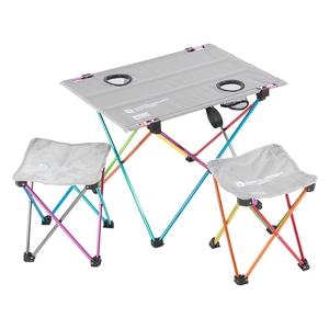 【送料無料】D.O.D(ドッペルギャンガーアウトドア) ウルトラライトテーブルセット レインボー TS2-293