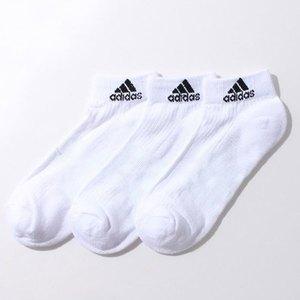 【送料無料】adidas(アディダス) 3S パフォーマンス 3Pショートソックス 24-26 AA2285(ホワイトxホワイトxホワイト) KAW64