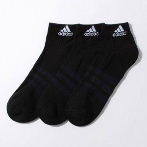 【送料無料】adidas(アディダス) 3S パフォーマンス 3Pショートソックス 24-26 AA2286(ブラックxブラックxブラック) KAW64