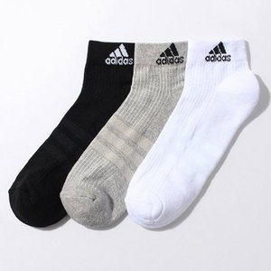 【送料無料】adidas(アディダス) 3S パフォーマンス 3Pショートソックス 24-26 AA2287 KAW64