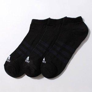 【送料無料】adidas(アディダス) 3S パフォーマンス 3Pアンクルソックス 22-24 AA2280(ブラックxブラックxブラック) KAW66