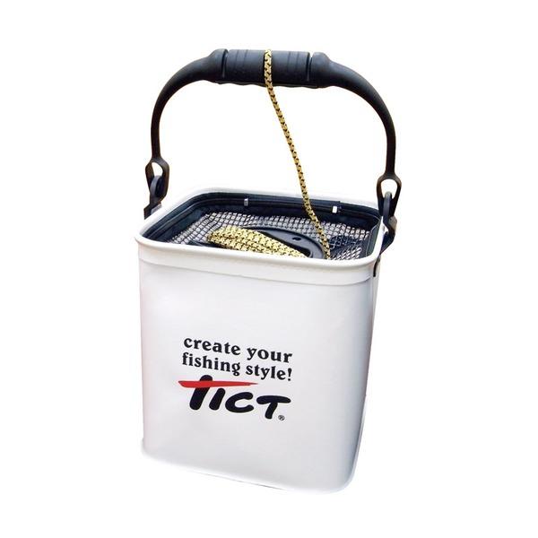 TICT(ティクト) ホルダー付きバケツ バッカン・バケツ・エサ箱