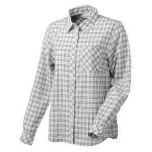 Columbia(コロンビア) VERTICAL RELIEF WOMEN'S R FIT LONG SLEEVE SHIRT L 039(COLUMBIA GREY) PL7956