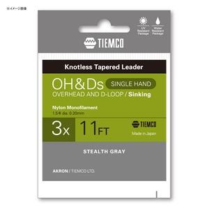 ティムコ(TIEMCO) OH&Dリーダー シンキング シングル 11FT 3X ステルスグレー 175002311030
