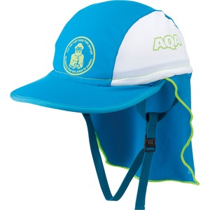 AQA(エーキューエー) UV DRY フラップキャップ キッズ M ブルーxホワイト KW-4468A