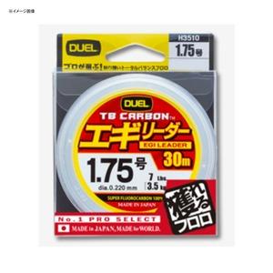 デュエル(DUEL) TB CARBON(カーボン) エギリーダー 30m 1.5号/6Lbs ナチュラルクリア H3509