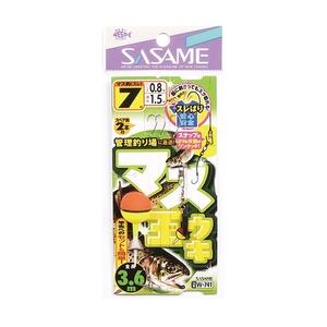 ささめ針(SASAME) マス玉ウキ(スレ鈎) 3.6m 7号 W-741