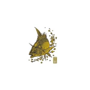ささめ針(SASAME) 蒔絵シール大漁祈願 チヌ ゴールド SH252