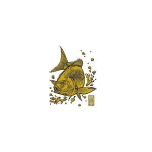 ささめ針(SASAME) 蒔絵シール大漁祈願 グレ ゴールド SH253