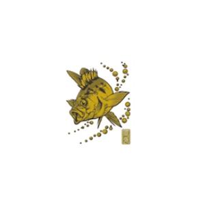 ささめ針(SASAME) 蒔絵シール大漁祈願 メバル ゴールド SH258