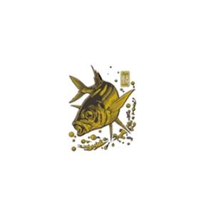ささめ針(SASAME) 蒔絵シール大漁祈願 アジ ゴールド SH266