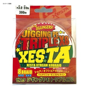 【送料無料】ゼスタ(XeSTA) ジギングPE トリプルX8 300m 2.5号/44lb