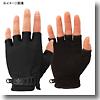 UV Mesh Finger Cut GloveMブラック