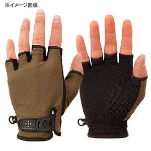 アクシーズクイン(AXESQUIN) UV Mesh Finger Cut Glove S オリーブ AG6707