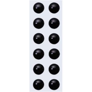 バスデイ NEW 3Dアイシール 4mm ブラック