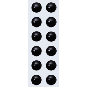 バスデイ NEW 3Dアイシール 6mm ブラック
