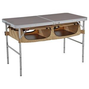ストレージアウトドアテーブル Nシリーズ  ブラウン×ベージュ