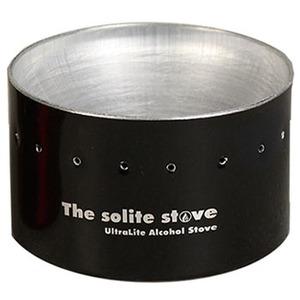 THE SOLITE STOVE(ソーライトストーブ) ウルトラライトアルコールバックパッキングストーブ ブラック 19980001001000