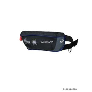Takashina(高階救命器具) BSJ-4320RS 水感知機能付(ダブルインジケーター付) 膨脹式 イフジャケット ブラック
