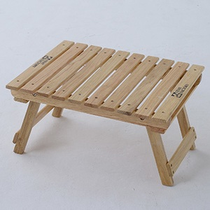 【送料無料】TENT FACTORY(テントファクトリー) ウッドライン グランドミッドテーブル 50.5x41.5 ナチュラル TF-WLMT-NA