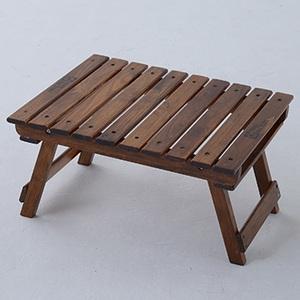 TENT FACTORY(テントファクトリー) ウッドライン グランドミッドテーブル 50.5x41.5 ブラウン TF-WLMT-BR