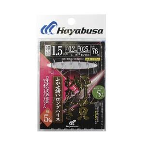 ハヤブサ(Hayabusa) 瞬貫わかさぎ ふかせ誘いロングハリス 秋田キツネ5本 0.8号 C254