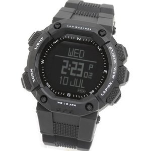 【送料無料】LAD WEATHER(ラドウェザー) GPS MASTER ブラックx反転液晶 lad006bk1