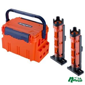 ★バケットマウスBM−5000+ロッドスタンド BM−250 Light 2本組セット★  オレンジ/クリアオレンジ×ブラック