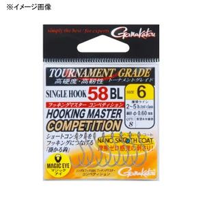 がまかつ(Gamakatsu) シングルフック 58BL フッキングマスター コンペティション #8 ナノスムースコート 68112