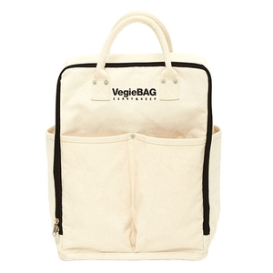 Vegie bag(ベジ バッグ) ショッピングバッグ パック ホワイト VB-101
