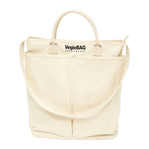 Vegie bag(ベジ バッグ) ショッピングバッグ メット ホワイト VB-201