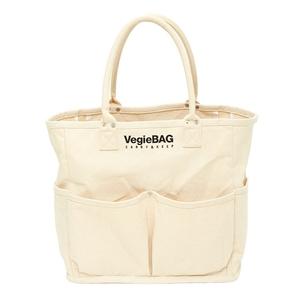 Vegie bag(ベジ バッグ) ショッピングバッグ ラフ ホワイト VB-301