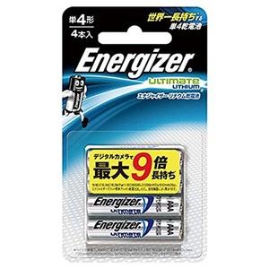 Energizer(エナジャイザー) リチウム乾電池 単4形 4本入 LIT BAT AAA 4PK 電池&ソーラーバッテリー