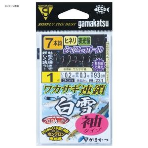 がまかつ(Gamakatsu) ワカサギ連鎖 白雪 袖タイプ 7本仕掛 W231 鈎2/ハリス0.2 42309