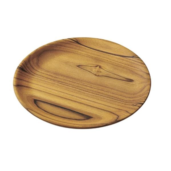 あまの(AMANO) TEAKプレート 0404181 ウッド製お皿