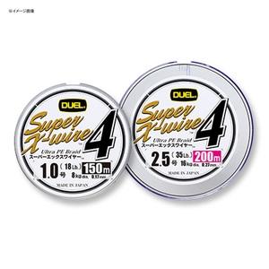 デュエル(DUEL) Super X-wire 4(スーパーエックスワイヤー フォー) 150m 0.6号/12Lbs S(シルバー) H3579