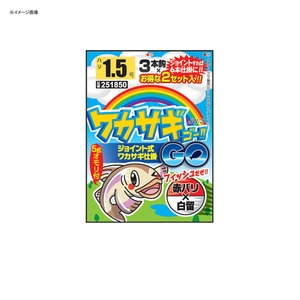 カツイチ(KATSUICHI) ジョイント式ワカサギ仕掛(ワカサギGO) 1.5号 JW-3