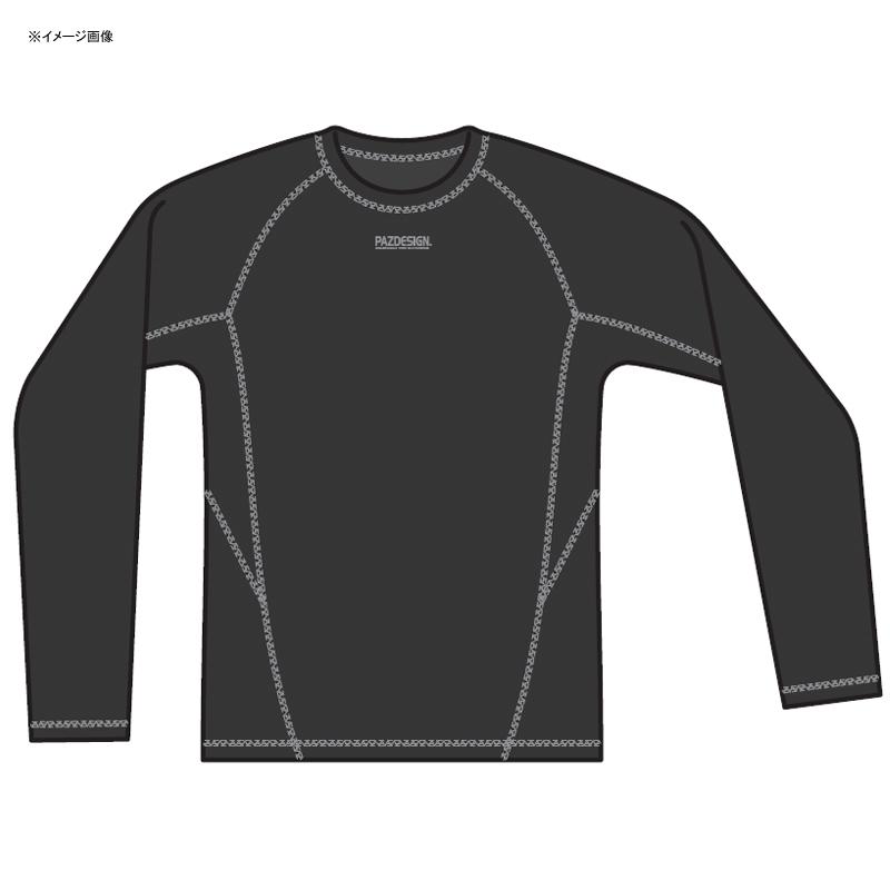 パズデザイン ストレッチウォームアンダーシャツ L ブラック×グレー SCR-012