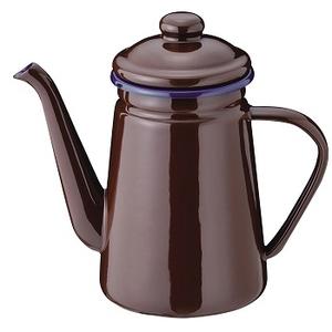 パールライフ(PEARL LIFE) ブレイクタイム ホーローコーヒーポット 1.1L ブラウン HB-1630